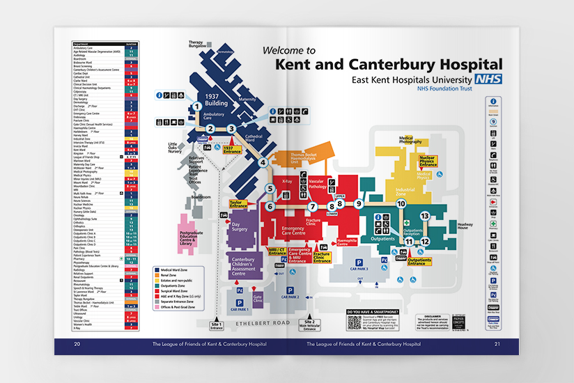 Kent And Canterbury Hospital Map Kent and Canterbury Hospital League of Friends Magazine   Smile  Kent And Canterbury Hospital Map